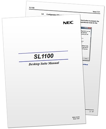 NEC SL1100 Resources My Tech Distributors on