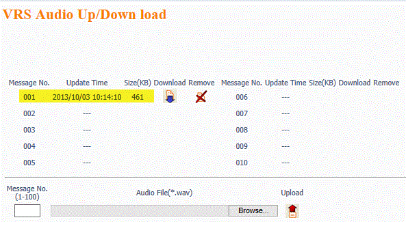 Uploading Music On-Hold Messages to the SL1100 Using WebPro