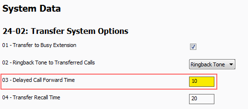 Timers for Sending Calls to Voicemail on the NEC SL2100 and